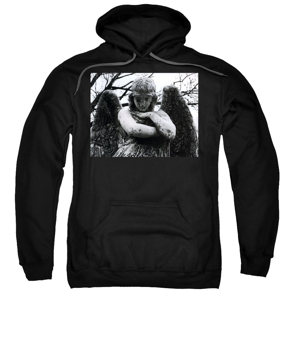 Angel Sweatshirt featuring the photograph Bellefontaine Angel by Jane Linders