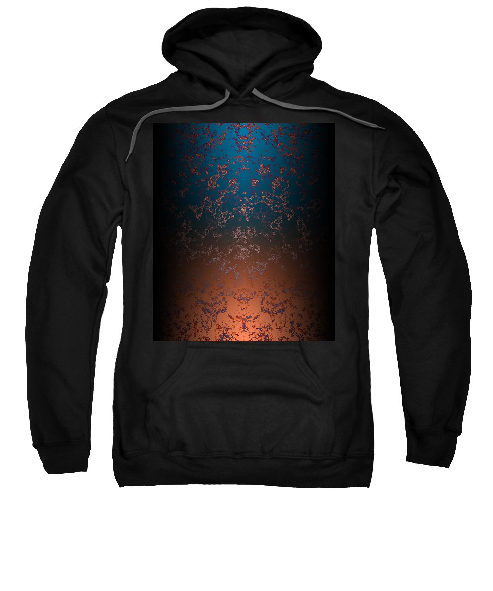 Beyond Sweatshirt featuring the painting Beyond Lava Lamps by Christopher Gaston