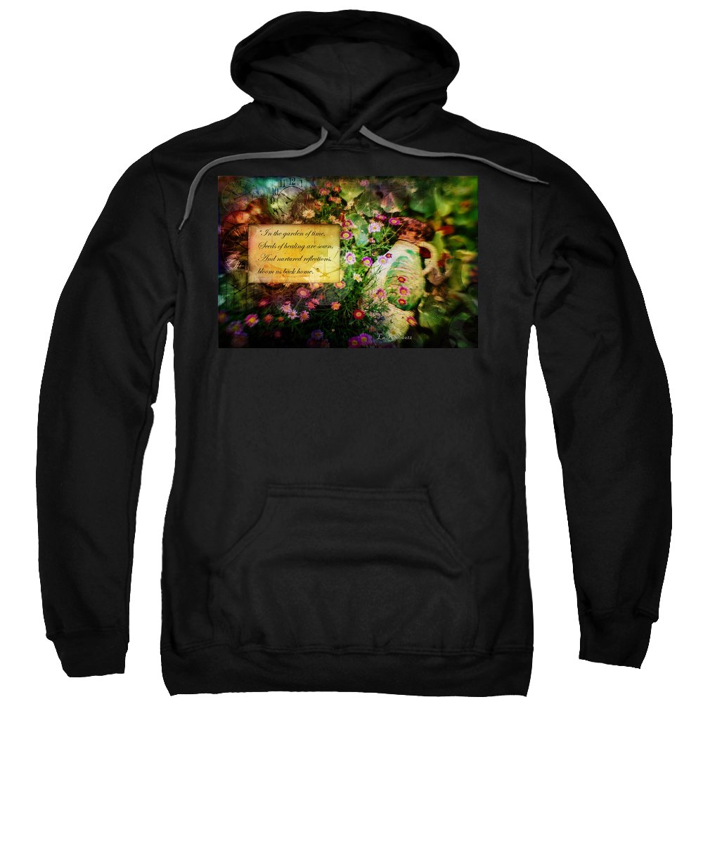 Flower Photography Sweatshirt featuring the photograph Bloom Home by La Rae Roberts