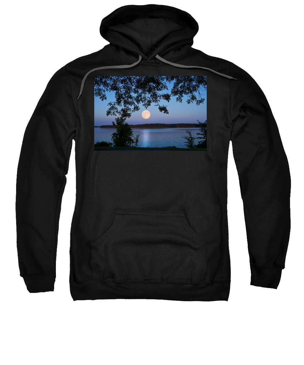 Blue Moon Sweatshirt featuring the photograph Blue Moon Of August by Randall Branham