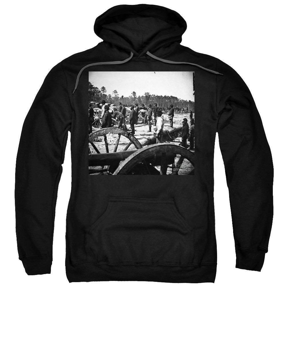 1860s Sweatshirt featuring the photograph Civil War: Union Artillery by Granger