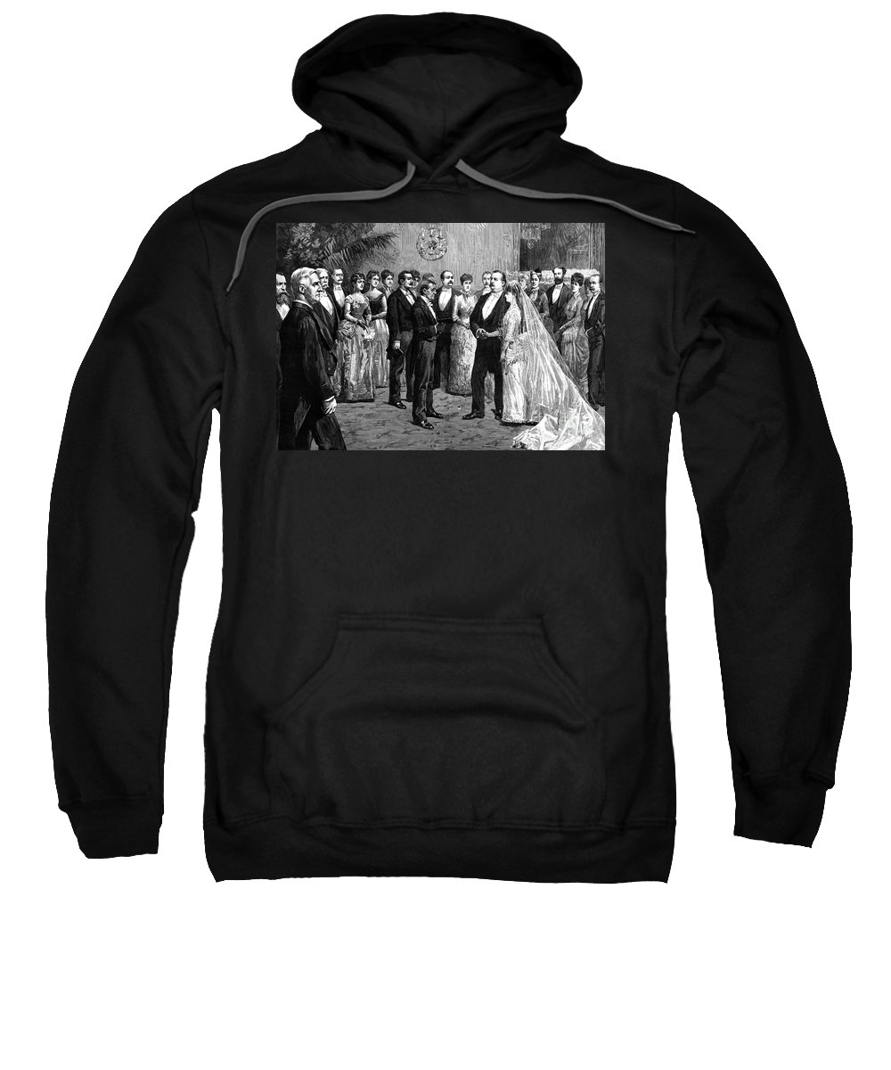 1886 Sweatshirt featuring the photograph Cleveland Wedding, 1886 by Granger