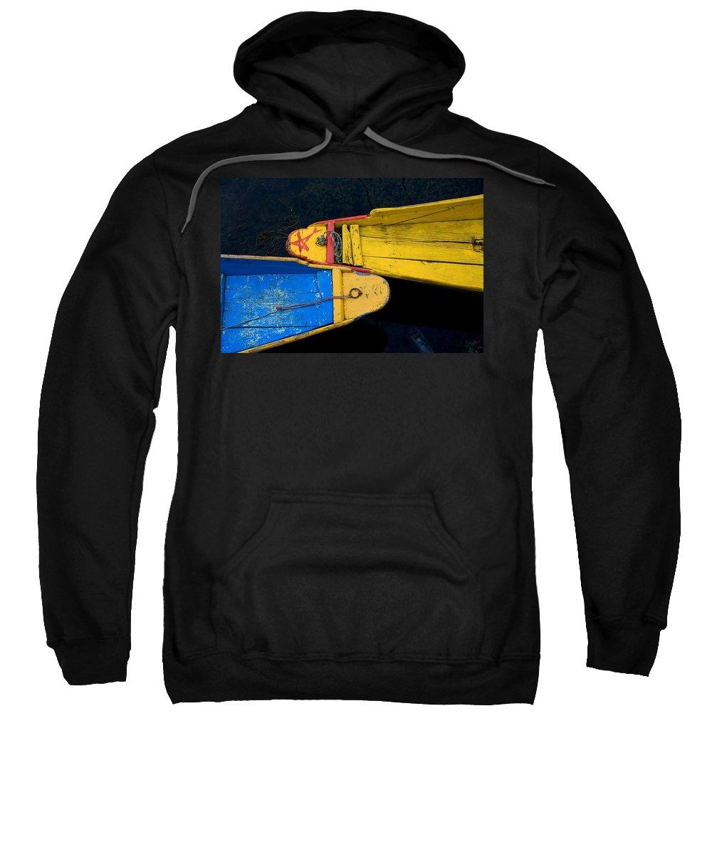 Boat Sweatshirt featuring the photograph Colorful Boats, Srinagar, Dal Lake by David DuChemin