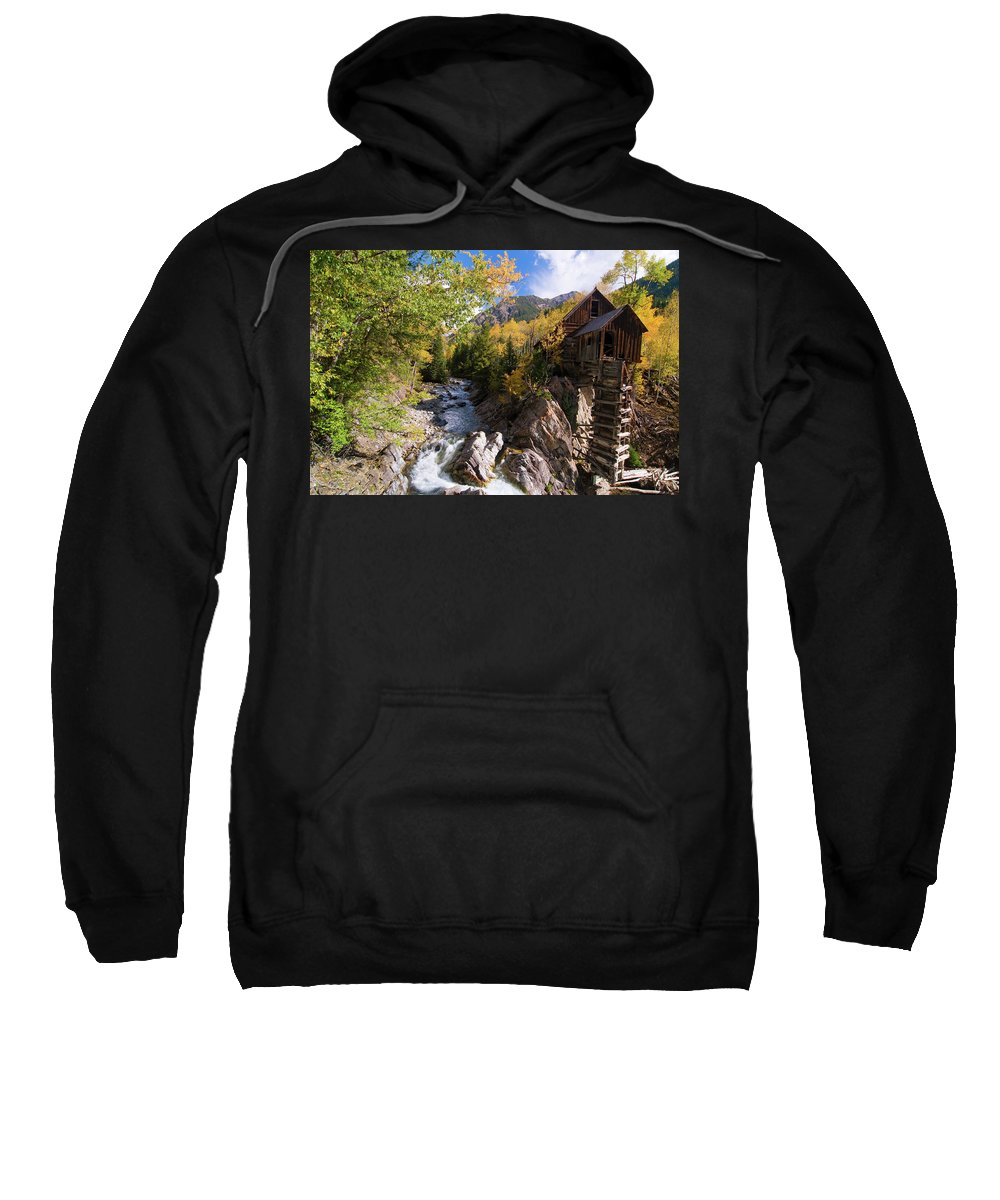 Colorado Sweatshirt featuring the photograph Crystal Mill by Steve Stuller