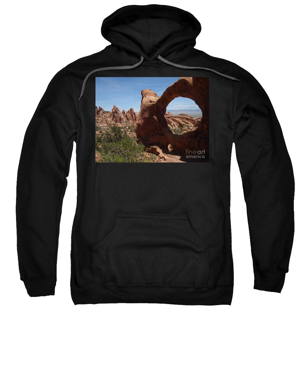 Nature Sweatshirt featuring the photograph Double Arch by Maili Page