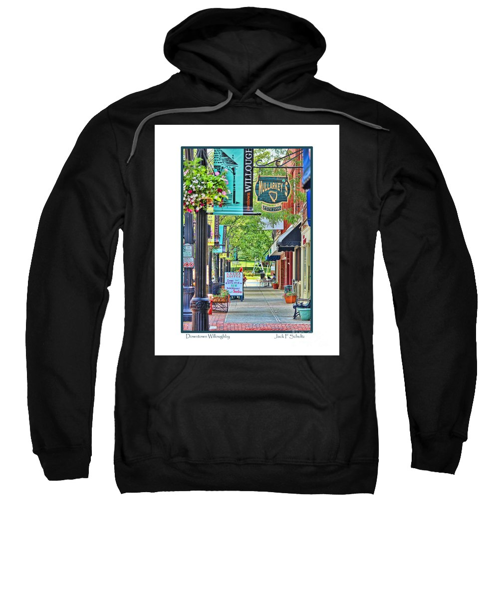 Willoughby Ohio Sweatshirt featuring the photograph Downtown Willoughby by Jack Schultz