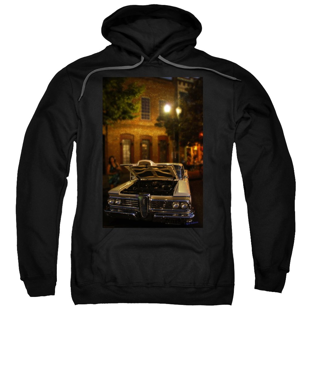 Edsel Sweatshirt featuring the photograph Edsel On Display by Mick Anderson