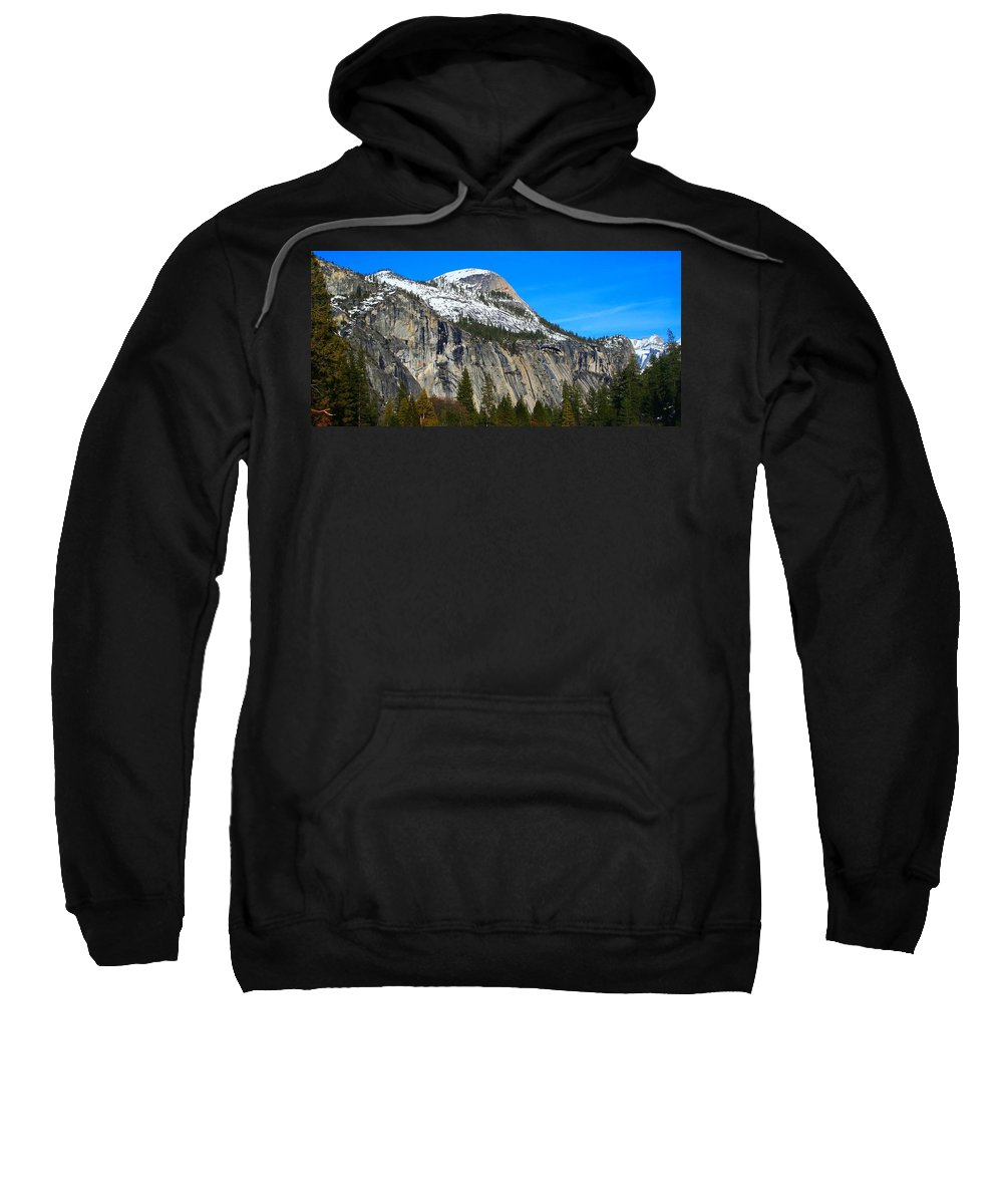 Yosemite National Park Sweatshirt featuring the photograph El Captain's Neighbor by Phil Cappiali Jr