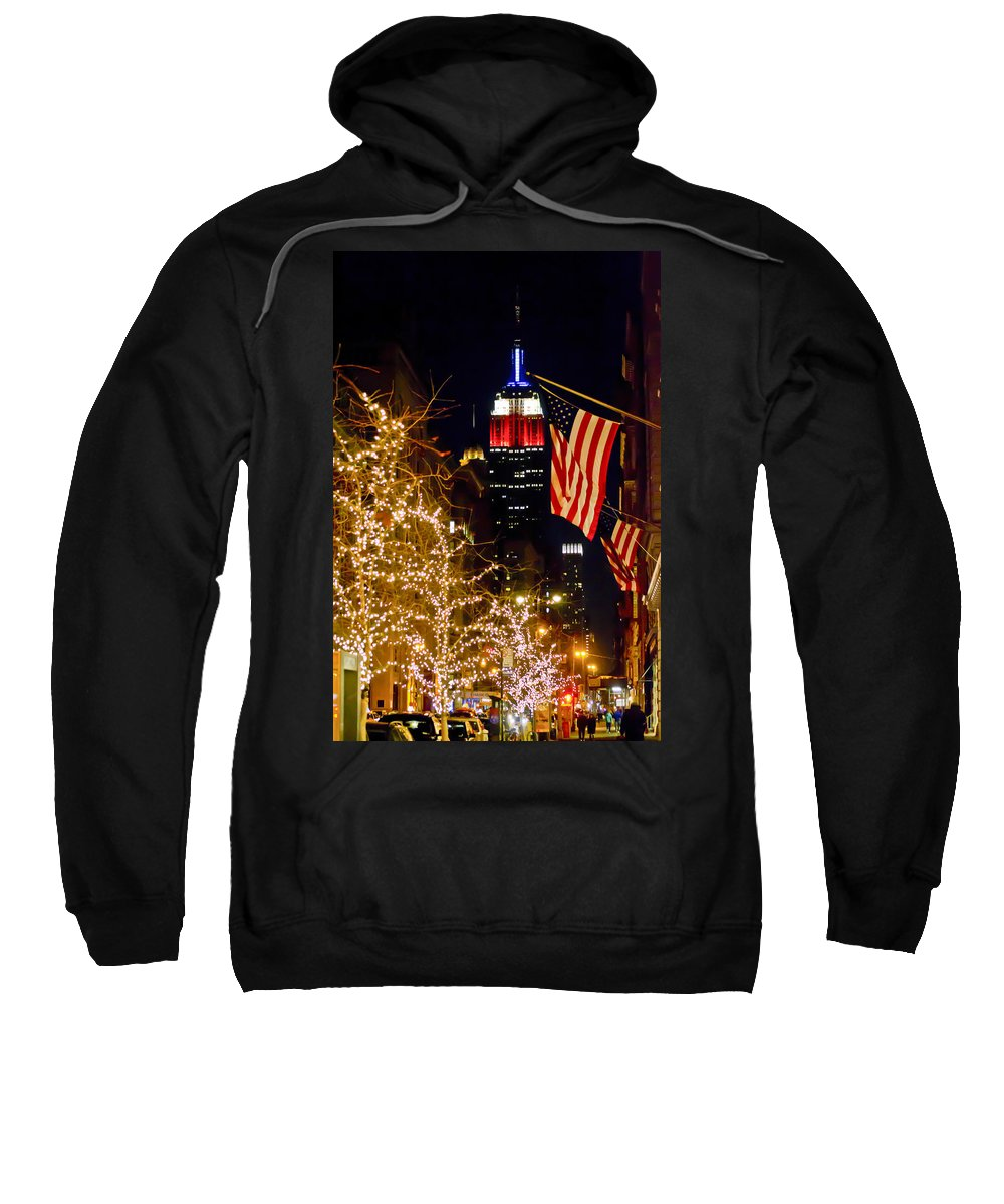 Empire State Building Sweatshirt featuring the photograph Empire State Building by Theodore Jones