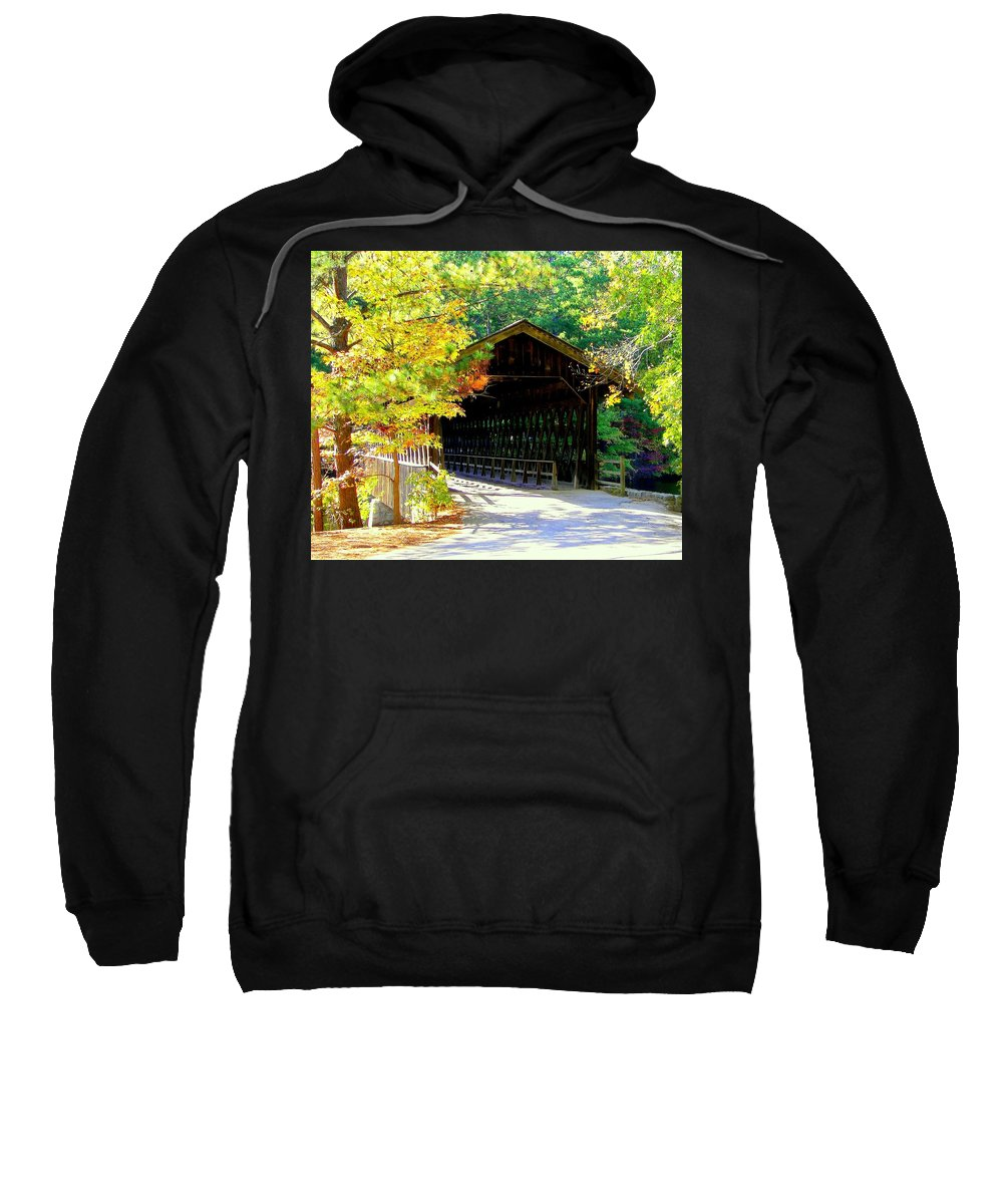 Covered Bridges Sweatshirt featuring the photograph Enticement by Karen Wiles