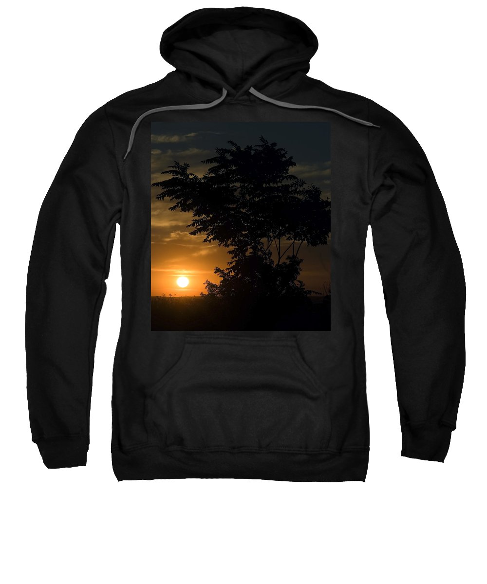 Evening Suset Along Country Lane Sweatshirt featuring the photograph Evening Sunset by Cliff Norton