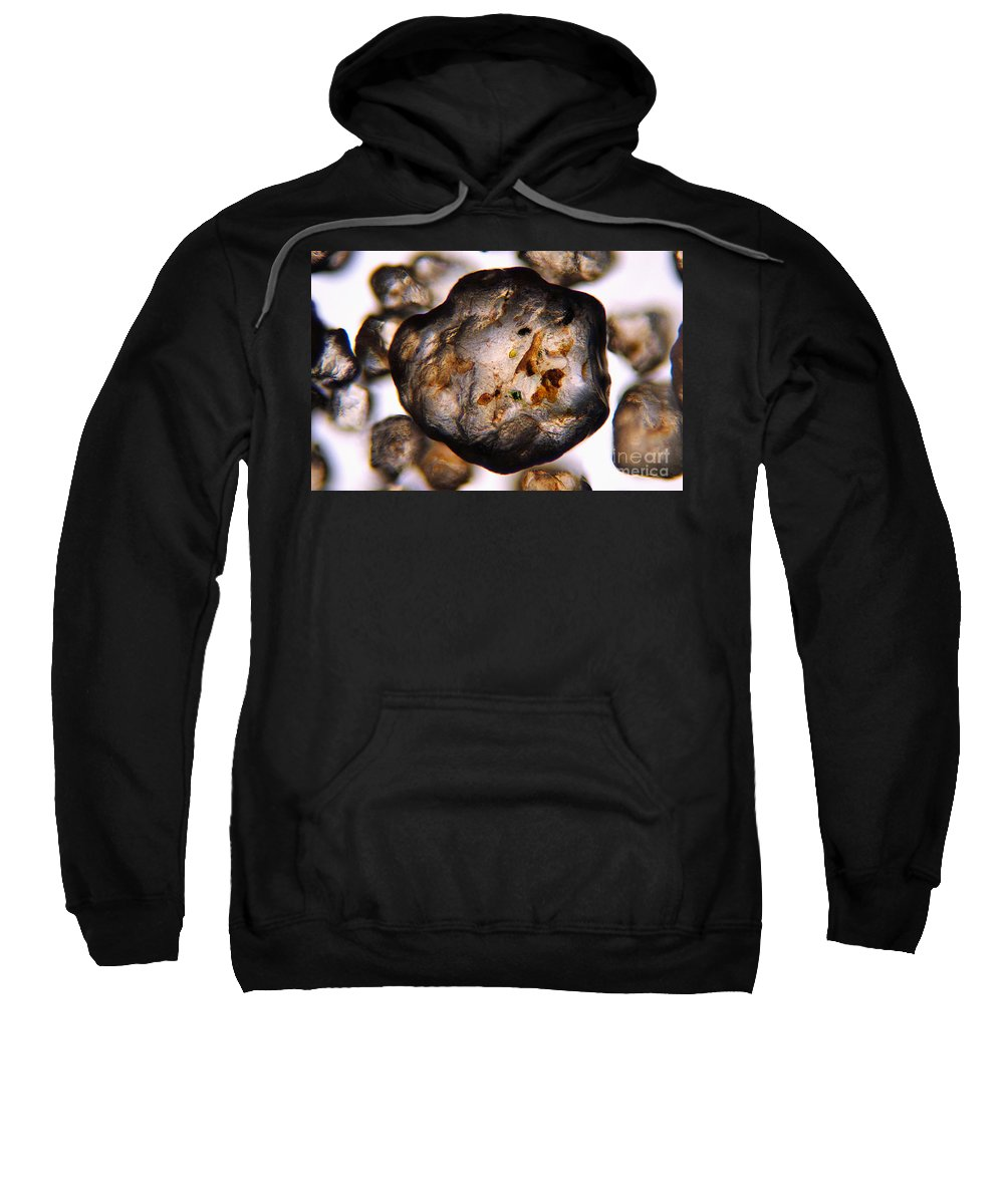 Photomicrograph Sweatshirt featuring the photograph Grain Of Sand by Raul Gonzalez Perez
