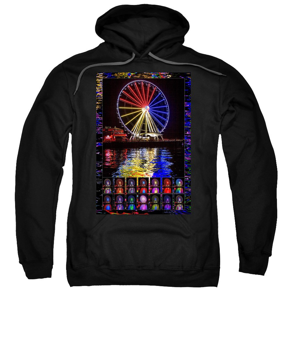 Seattle Sweatshirt featuring the photograph Great Wheel Poster by Mike Penney