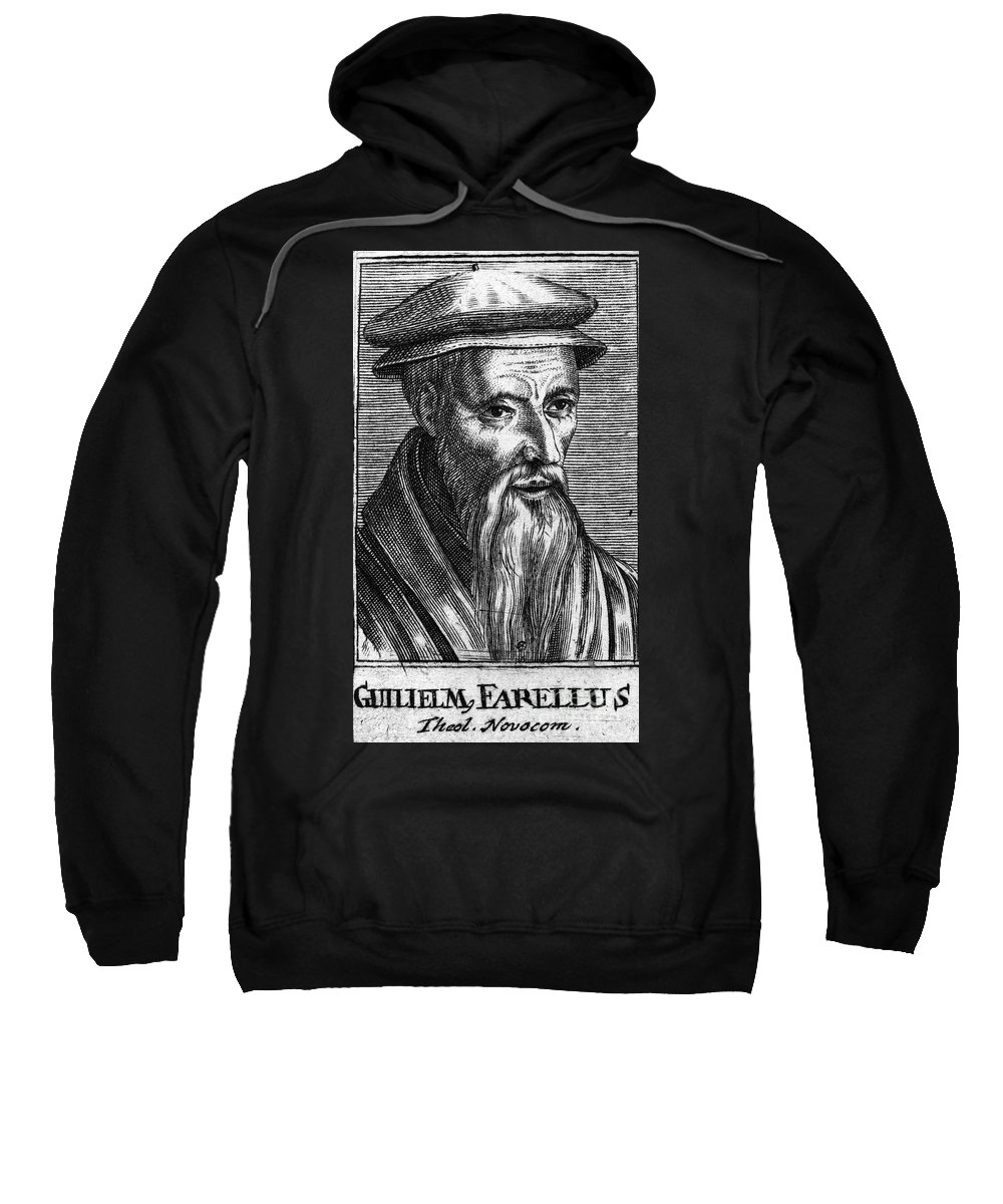 16th Century Sweatshirt featuring the photograph Guillaume Farel (1489-1565) by Granger