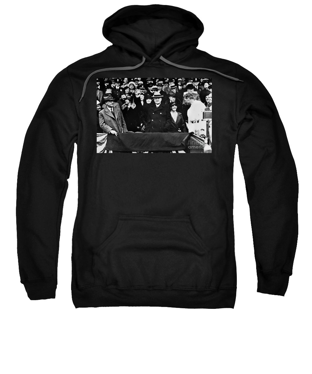 1932 Sweatshirt featuring the photograph Herbert Hoover (1874-1964) by Granger