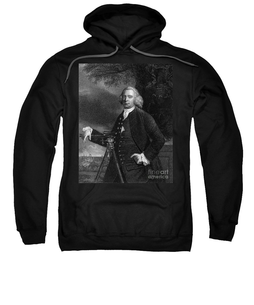 18th Century Sweatshirt featuring the photograph James Brindley (1716-1772) by Granger