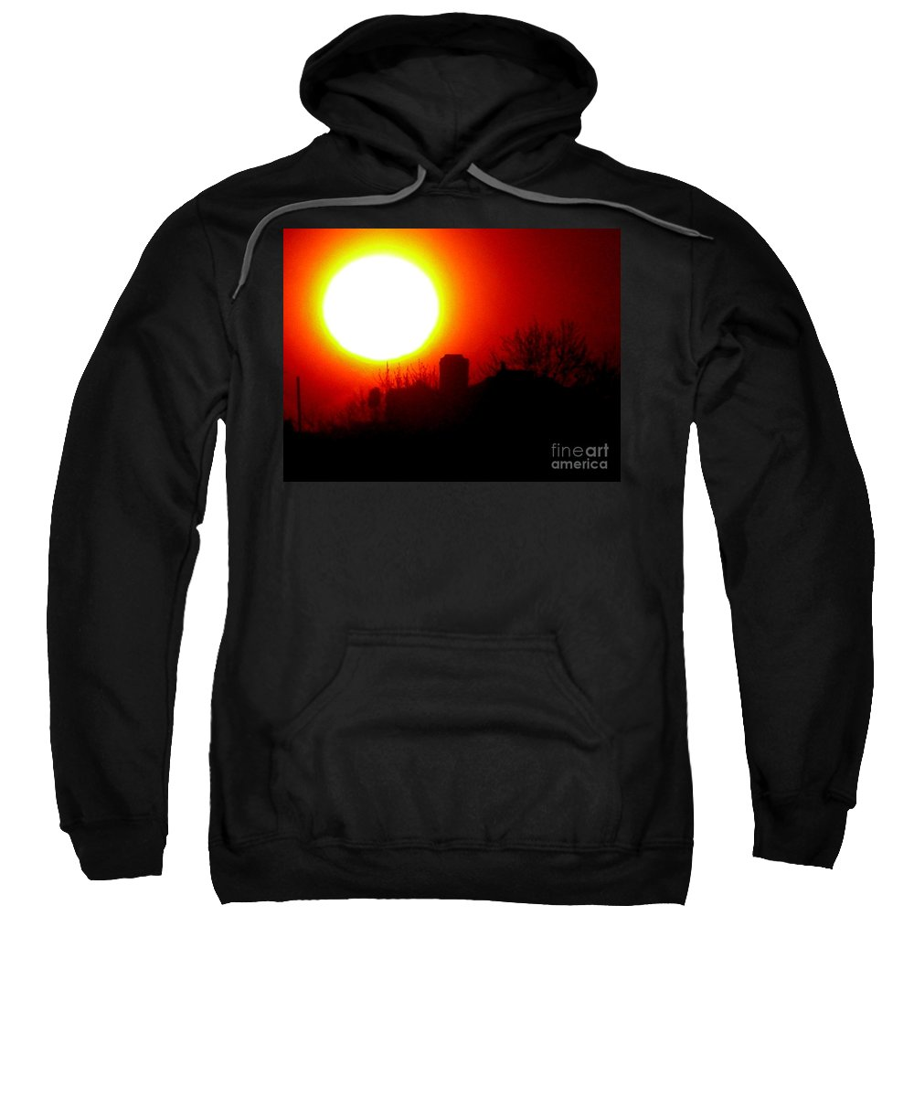 Sunset Sweatshirt featuring the photograph March 1 2008 by Mark Gilman