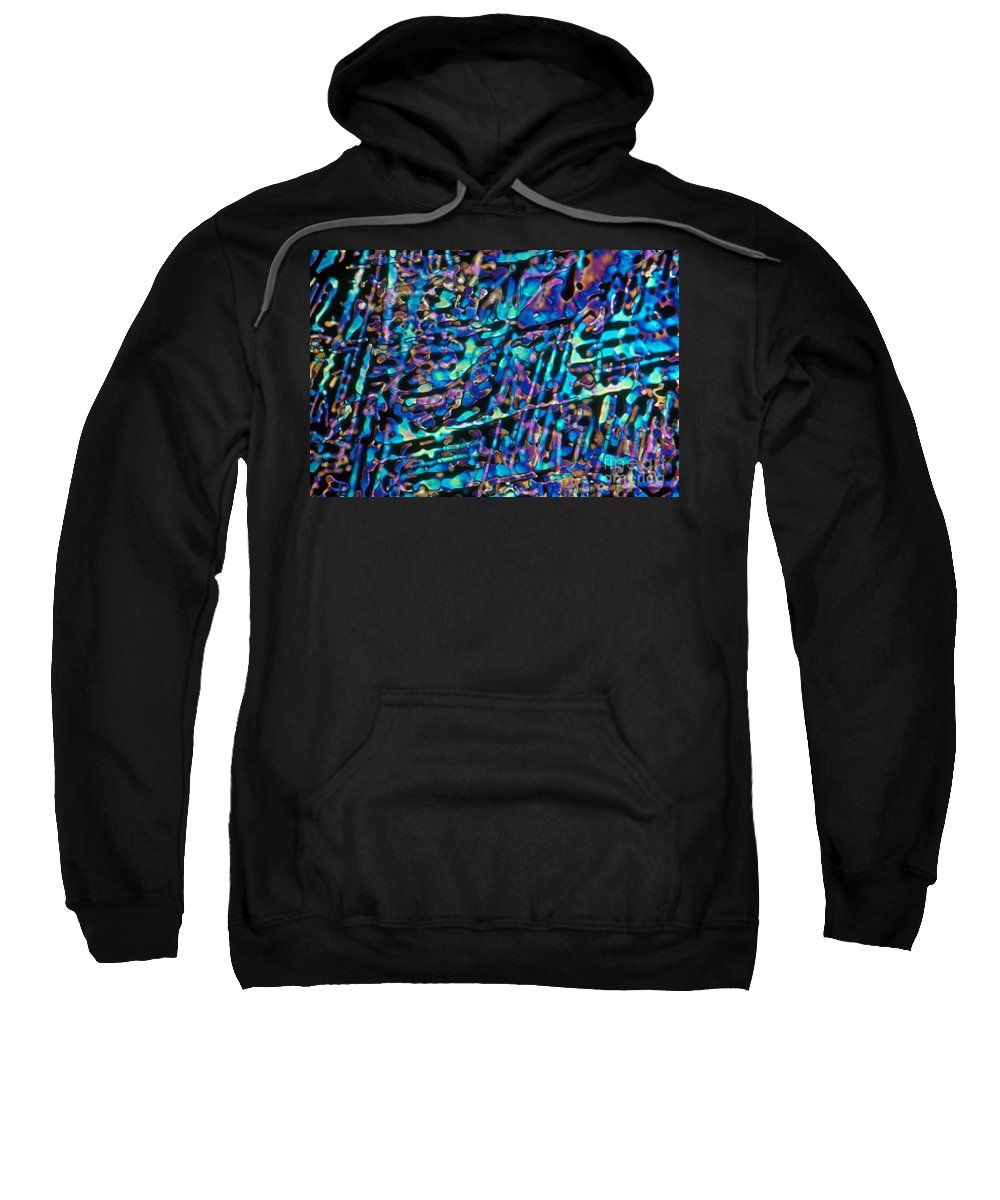 Science Sweatshirt featuring the photograph Paradichlorobenzene Crystals by Michael Abbey and Photo Researchers