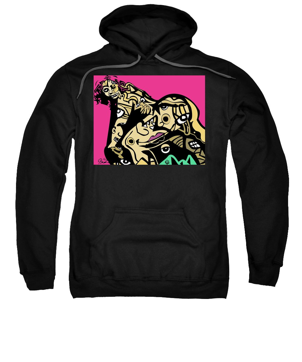 Pornstar Sweatshirt featuring the digital art Pinky by Kamoni Khem
