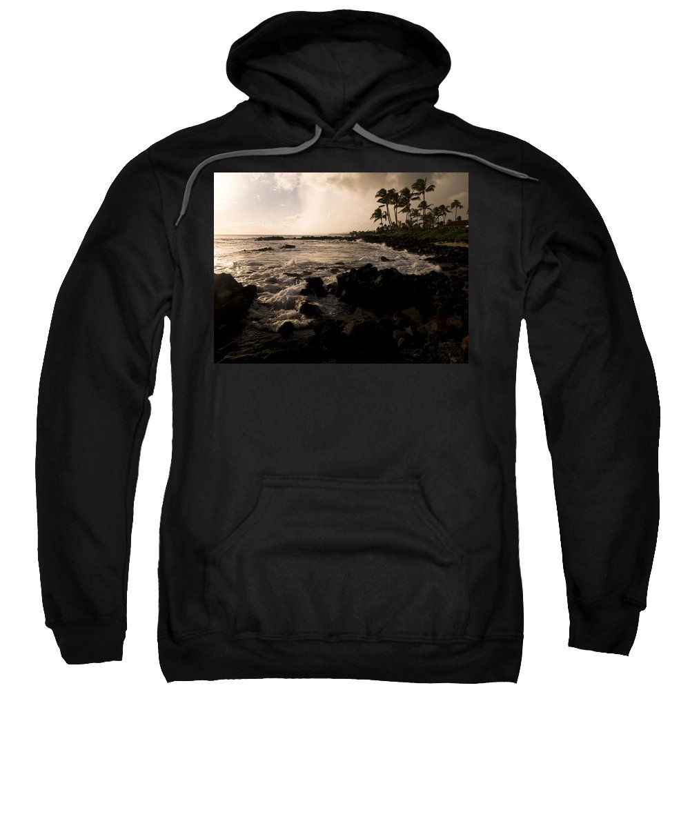 Beauty In Nature Sweatshirt featuring the photograph Rocky Coastline, Poipu, Kauai, Hawaii by Keith Levit