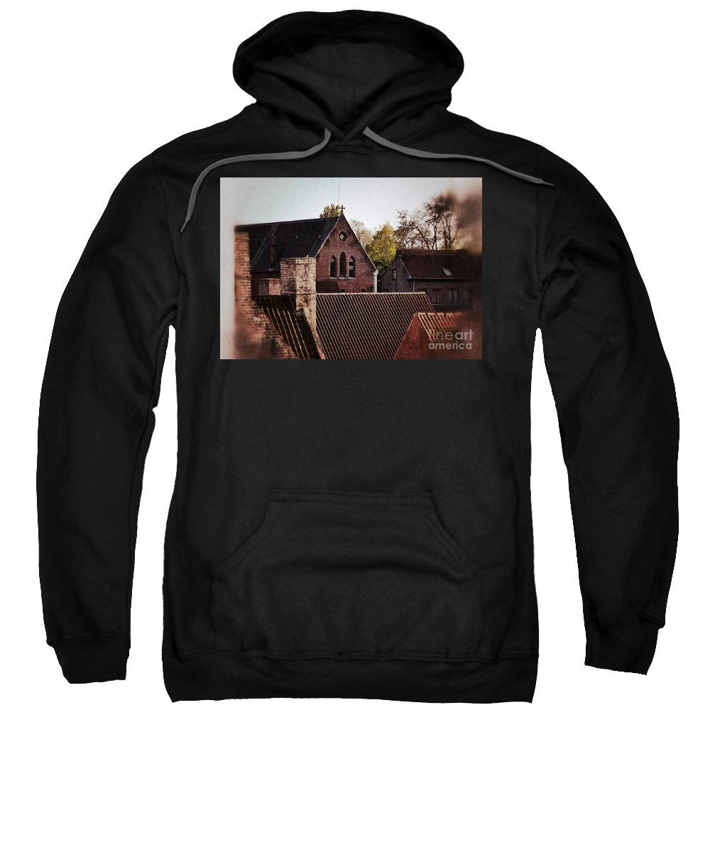 Architecture Sweatshirt featuring the photograph Roof Tops by Angela Wright