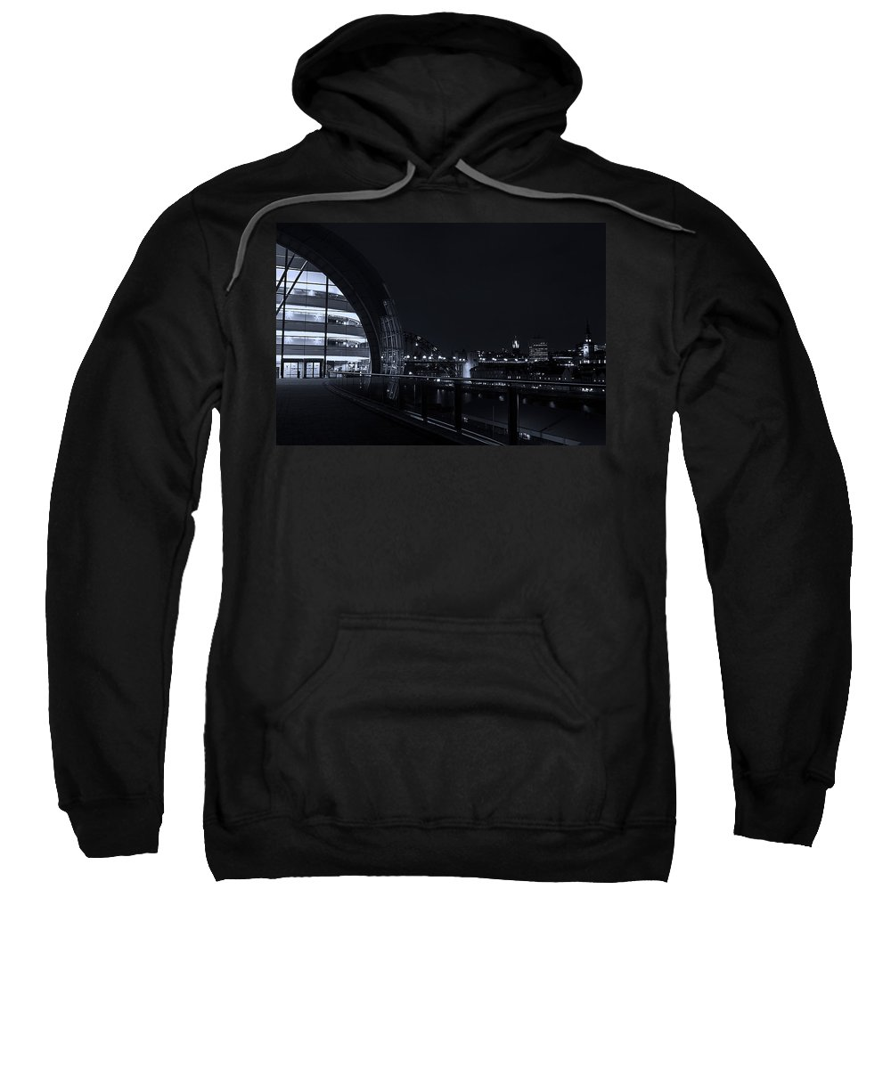 Sage Sweatshirt featuring the photograph Sage Gateshead At Night by David Pringle
