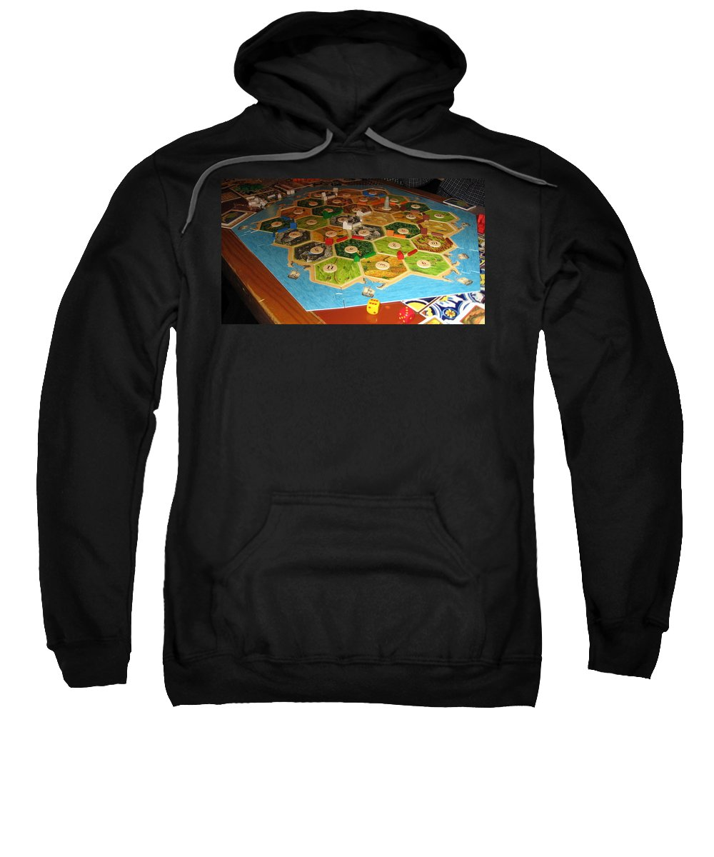Games Sweatshirt featuring the photograph Settlers Of Catan by Amy Hosp