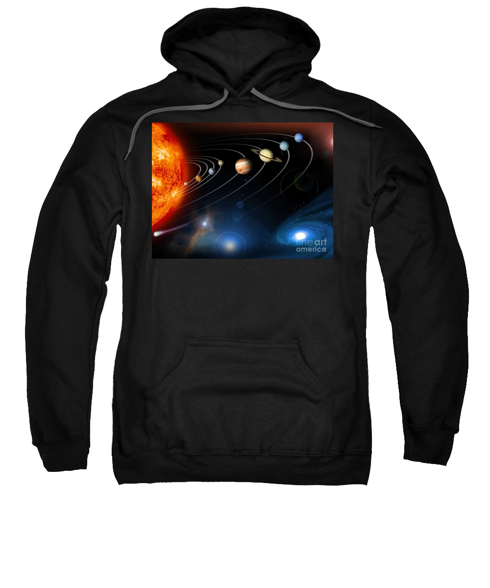 Space Sweatshirt featuring the photograph Solar System by Nasa