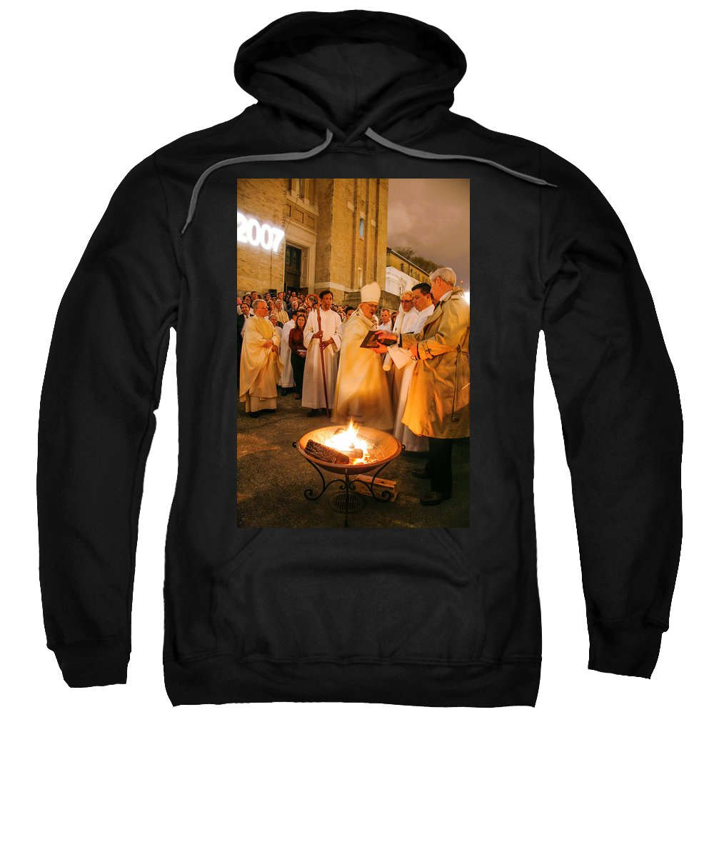 St. James Cathedral Sweatshirt featuring the photograph St James Cathedral by Mike Penney