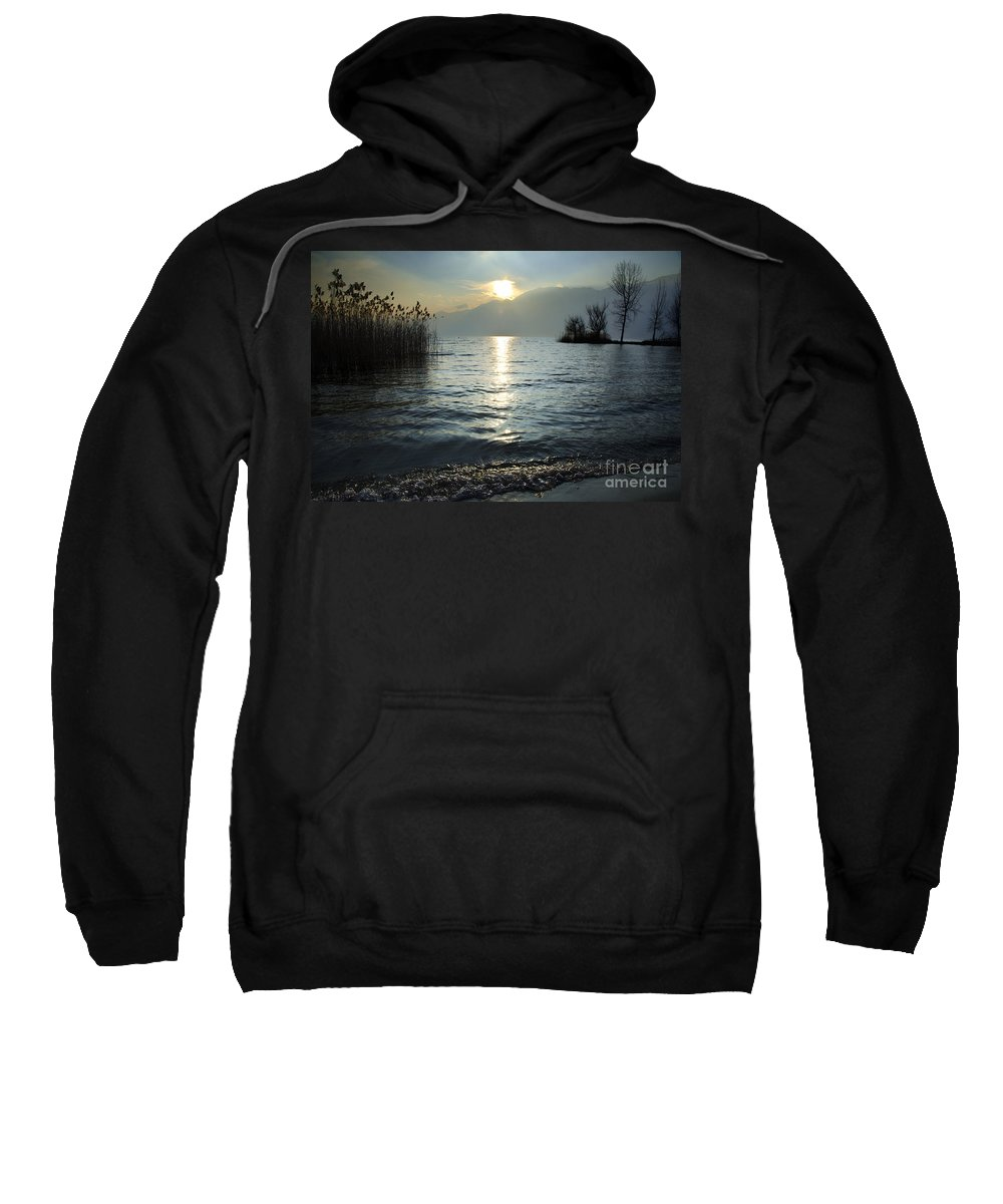 Sunset Sweatshirt featuring the photograph Sunset Over An Alpine Lake by Mats Silvan
