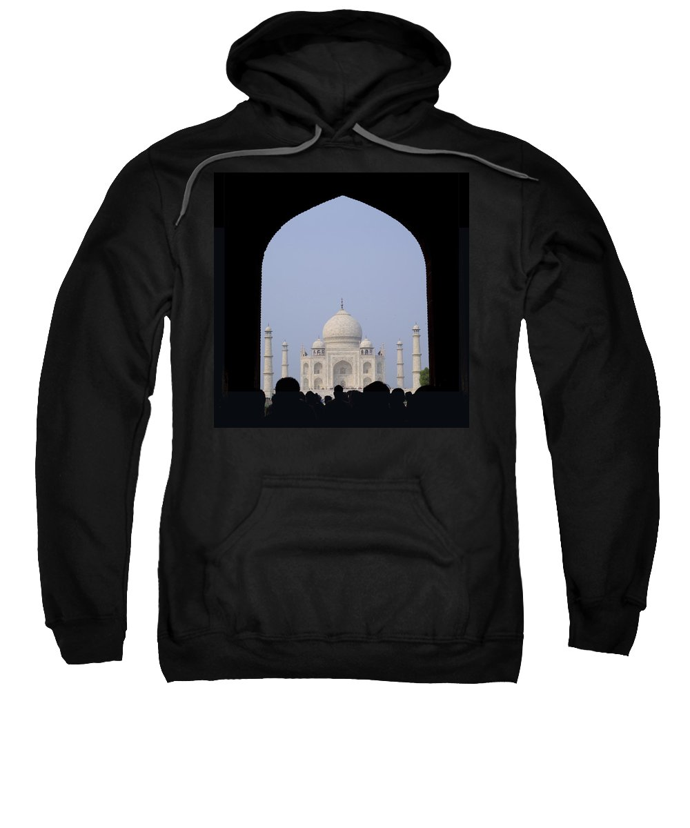 Architectural Sweatshirt featuring the photograph Taj Mahal, Agra India by Keith Levit