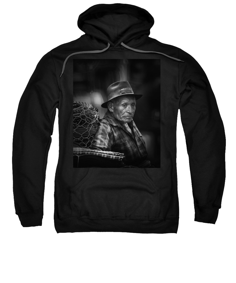 Textile Sweatshirt featuring the photograph Textile Merchant by Tom Bell