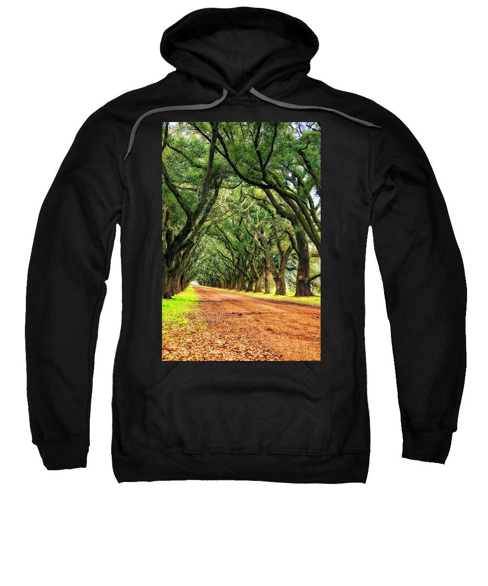 Evergreen Plantation Sweatshirt featuring the photograph The Deep South by Steve Harrington