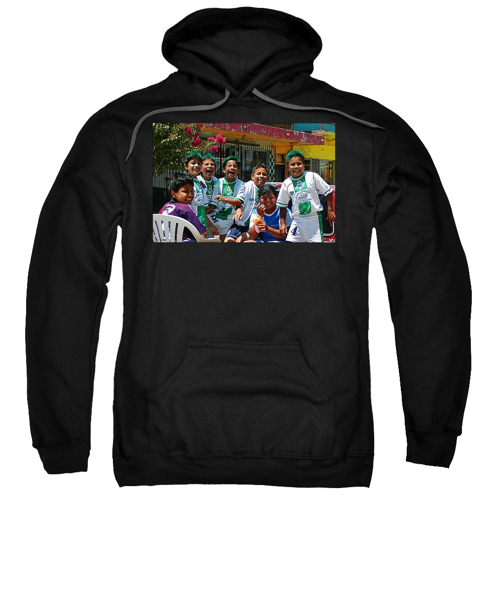 Roena King Sweatshirt featuring the photograph The Team by Roena King
