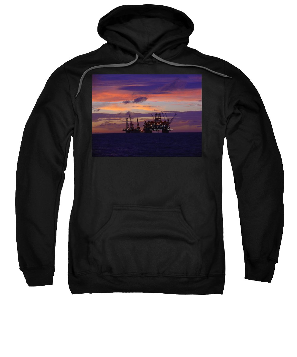 Thunder Horse Sweatshirt featuring the photograph Thunder Horse Before The Storm by Charles and Melisa Morrison
