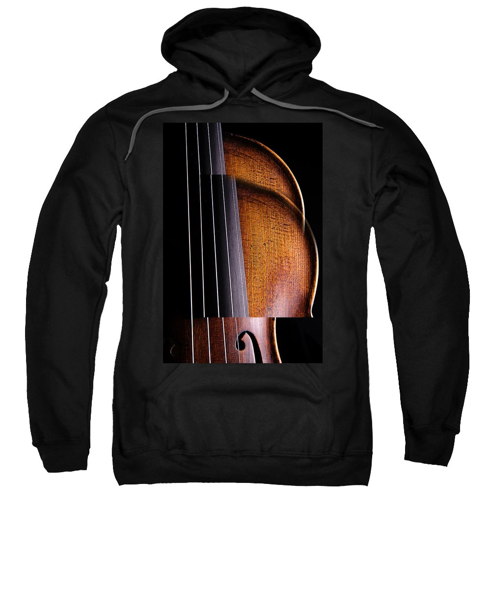 Violin Sweatshirt featuring the photograph Violin Isolated On Black by M K Miller