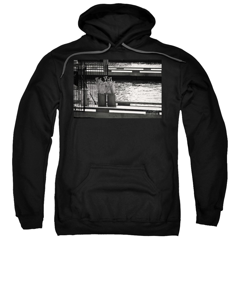 Dragon Boat Races Sweatshirt featuring the photograph Waiting by Traci Cottingham
