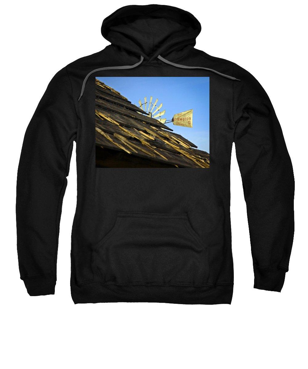 Wind Mill Sweatshirt featuring the photograph Windmill by Steve McKinzie