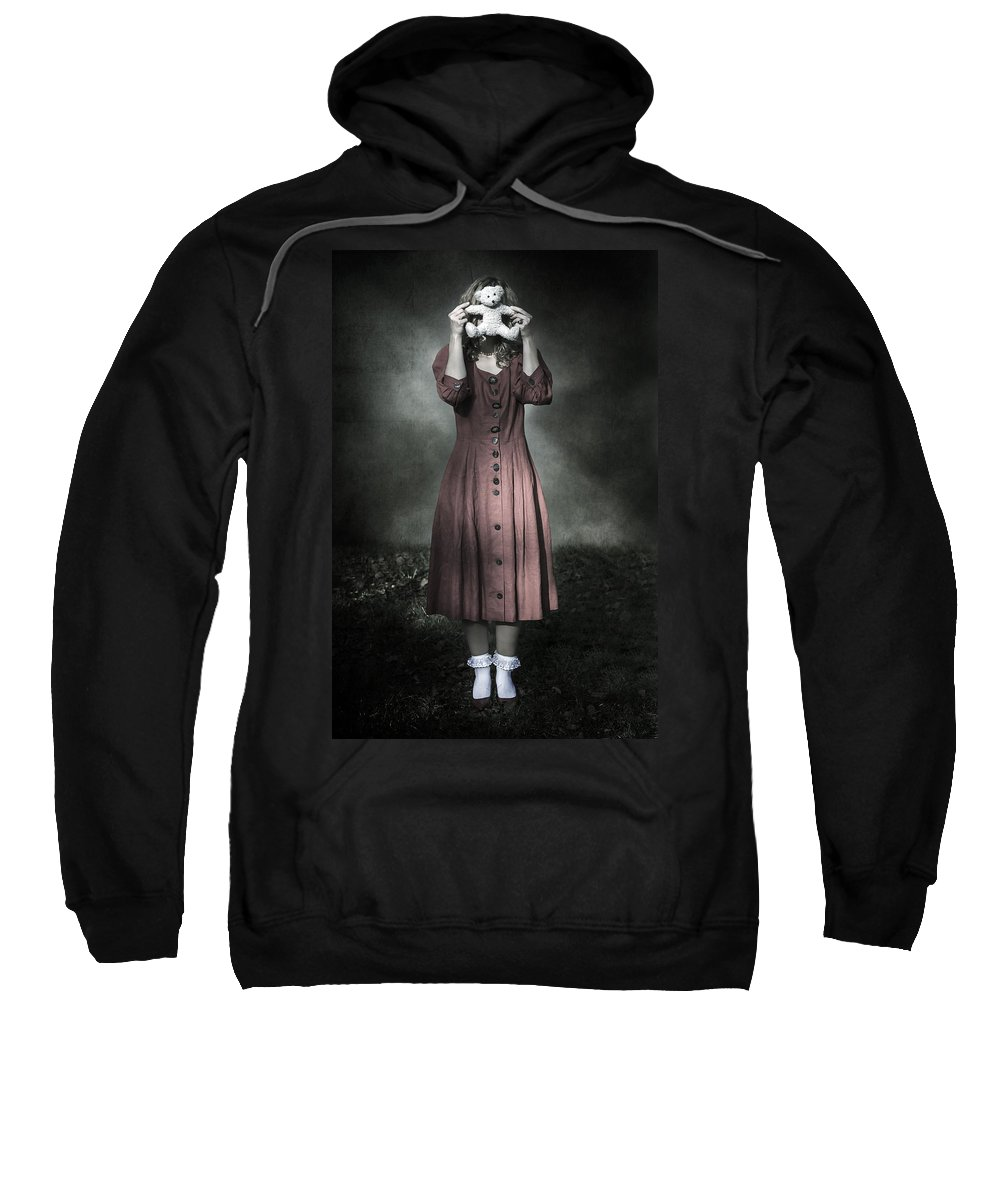 Woman Sweatshirt featuring the photograph Woman And Teddy by Joana Kruse