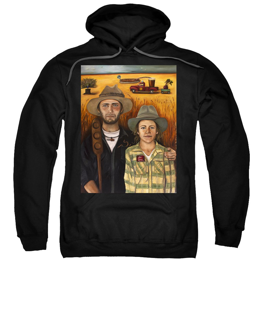 Zeb Sweatshirt featuring the painting Zeb And Ellen by Leah Saulnier The Painting Maniac