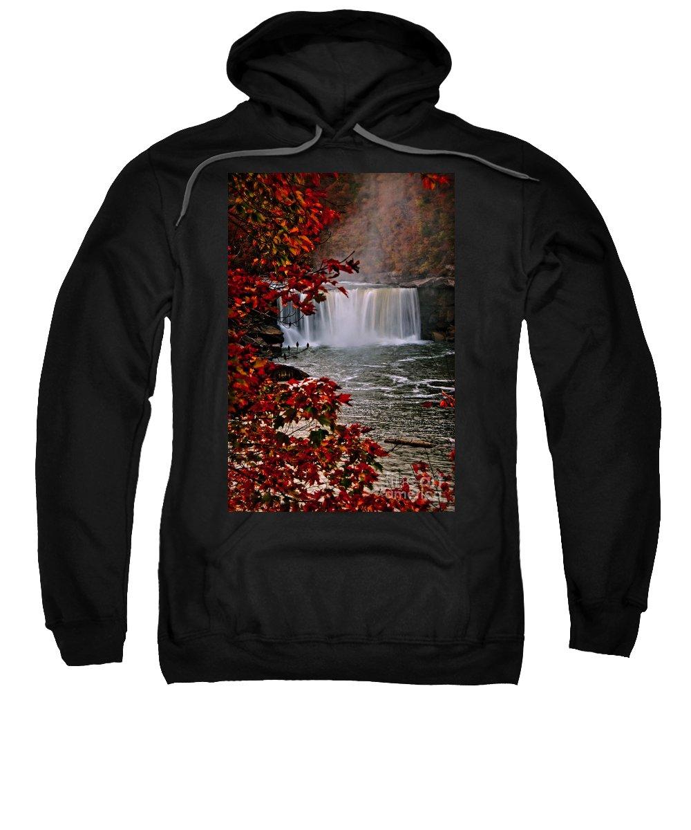 Cumberland Falls Sweatshirt featuring the photograph Cumberland Falls Ky by Anne Kitzman