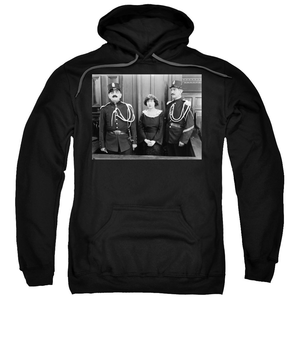 -courtroom- Sweatshirt featuring the photograph Silent Still: Courtroom by Granger
