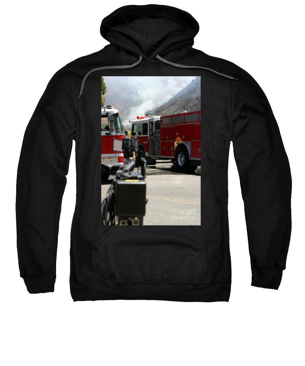Ash Sweatshirt featuring the photograph Barnett Fire by Henrik Lehnerer