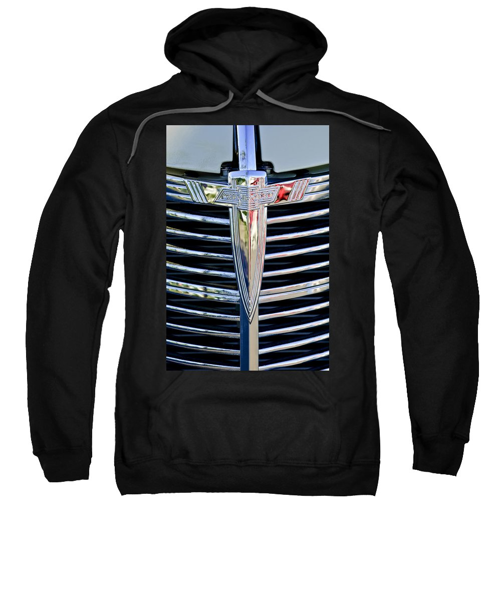 1933 Chevrolet Sweatshirt featuring the photograph 1933 Chevrolet Grille Emblem by Jill Reger