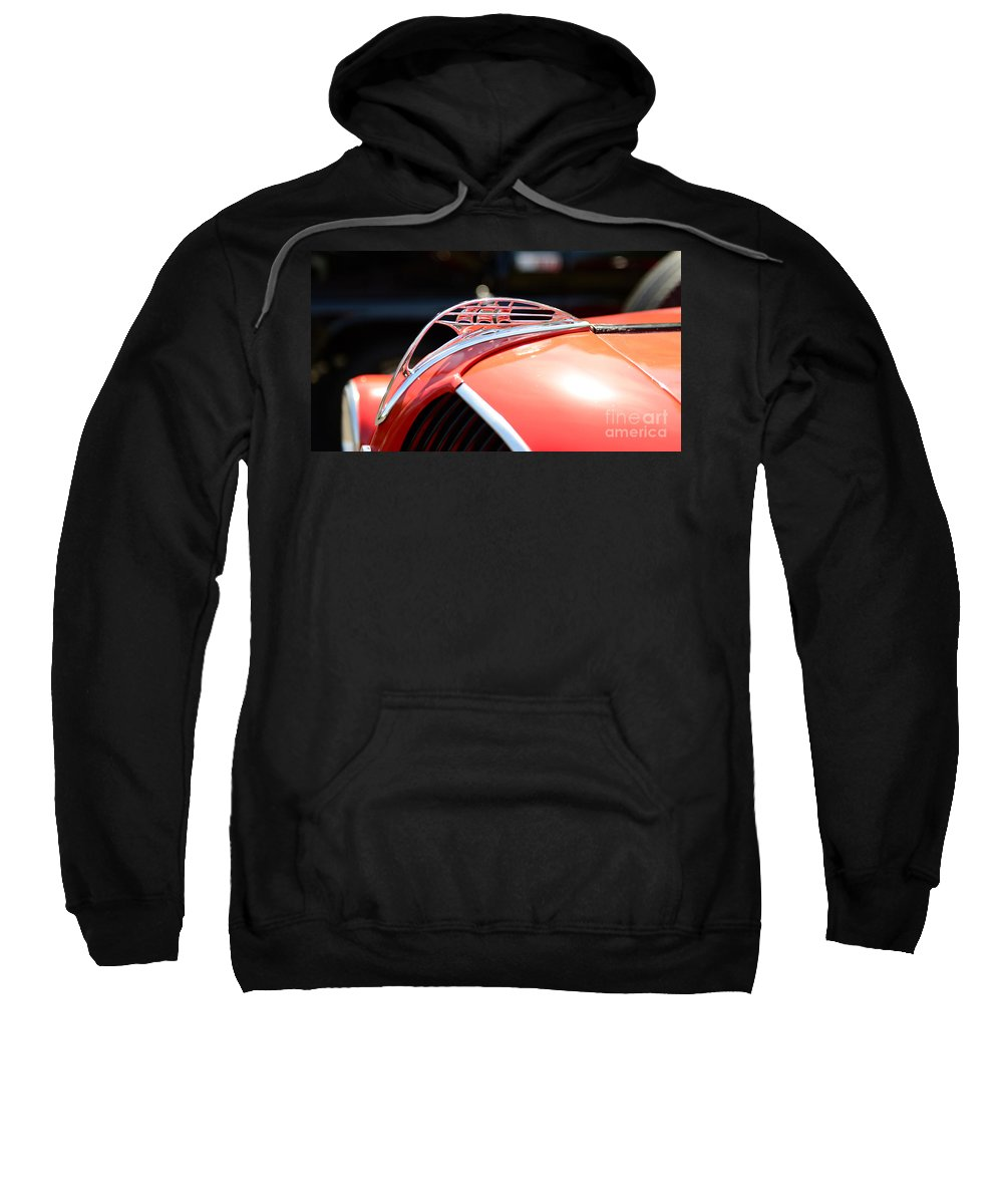 1937 Plymouth Pick Up Truck Sweatshirt featuring the photograph 1937 Plymouth Sailing Ship Hood Ornament by Paul Ward