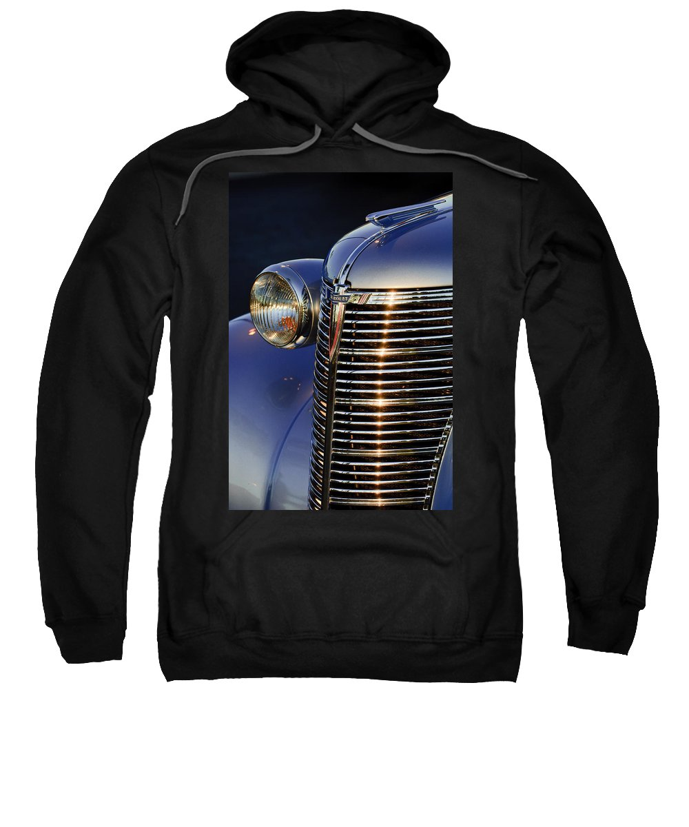 1938 Chevrolet Sweatshirt featuring the photograph 1938 Chevrolet Grille by Jill Reger
