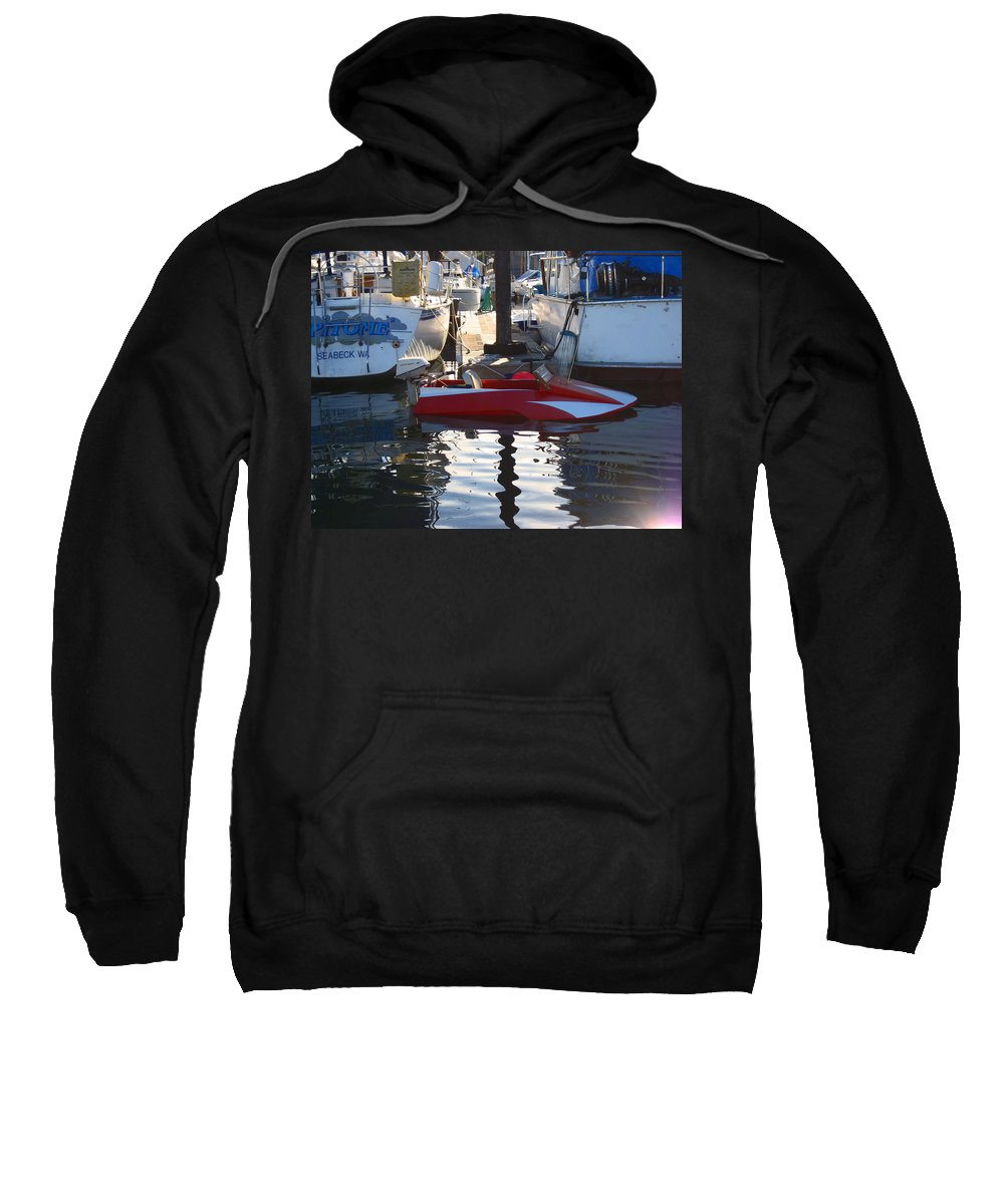 Small Boats Sweatshirt featuring the photograph 1950's Custom Hydroplane by Kym Backland