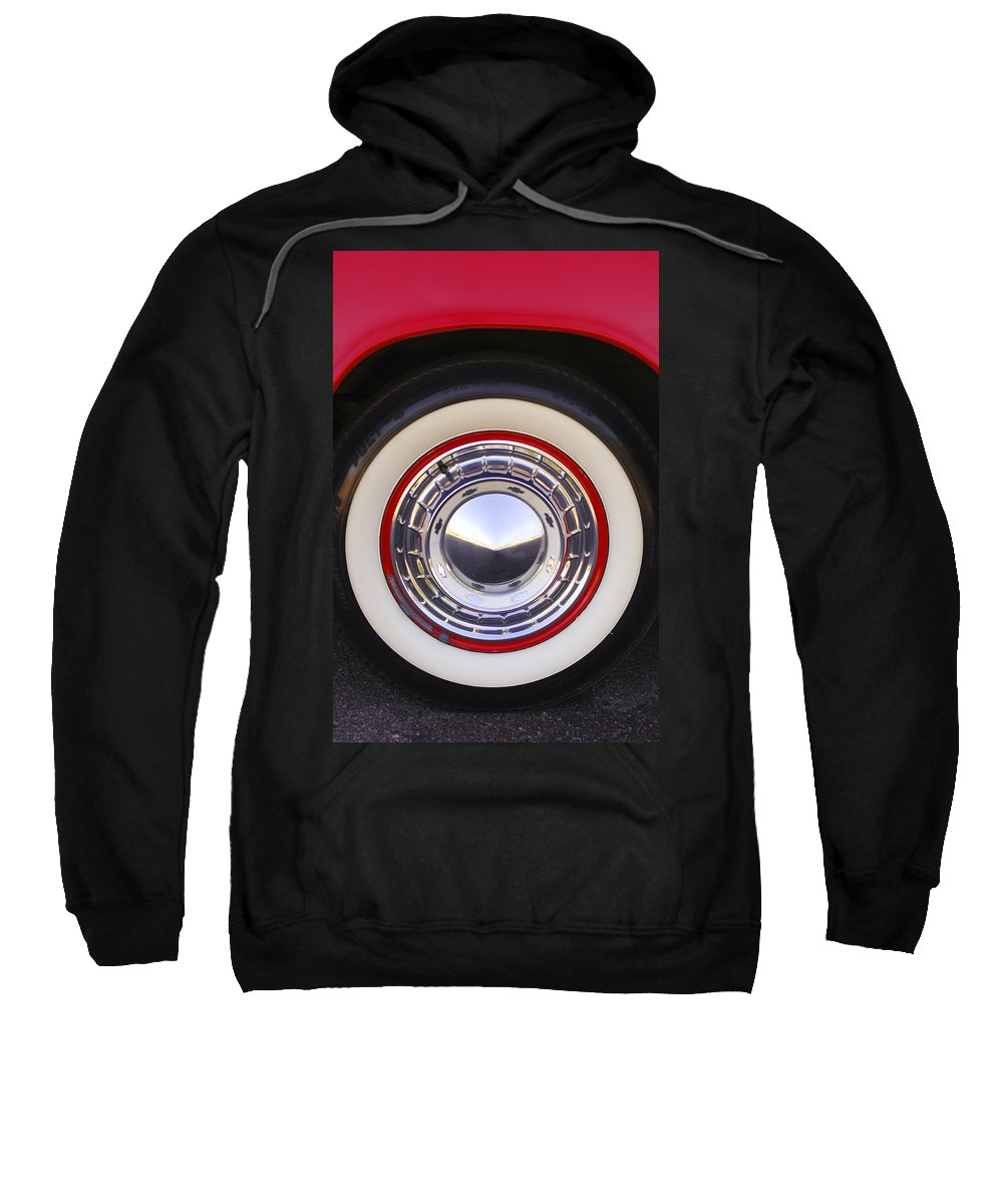 1955 Chevrolet Nomad Sweatshirt featuring the photograph 1955 Chevrolet Nomad Wheel by Jill Reger