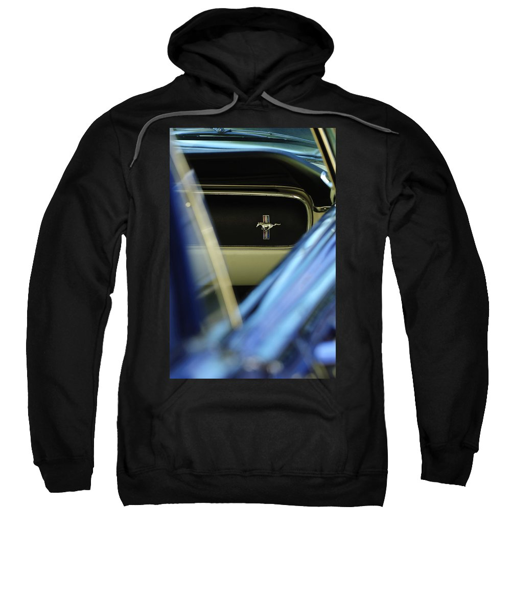 1964 Ford Mustang Sweatshirt featuring the photograph 1964 Ford Mustang Emblem by Jill Reger