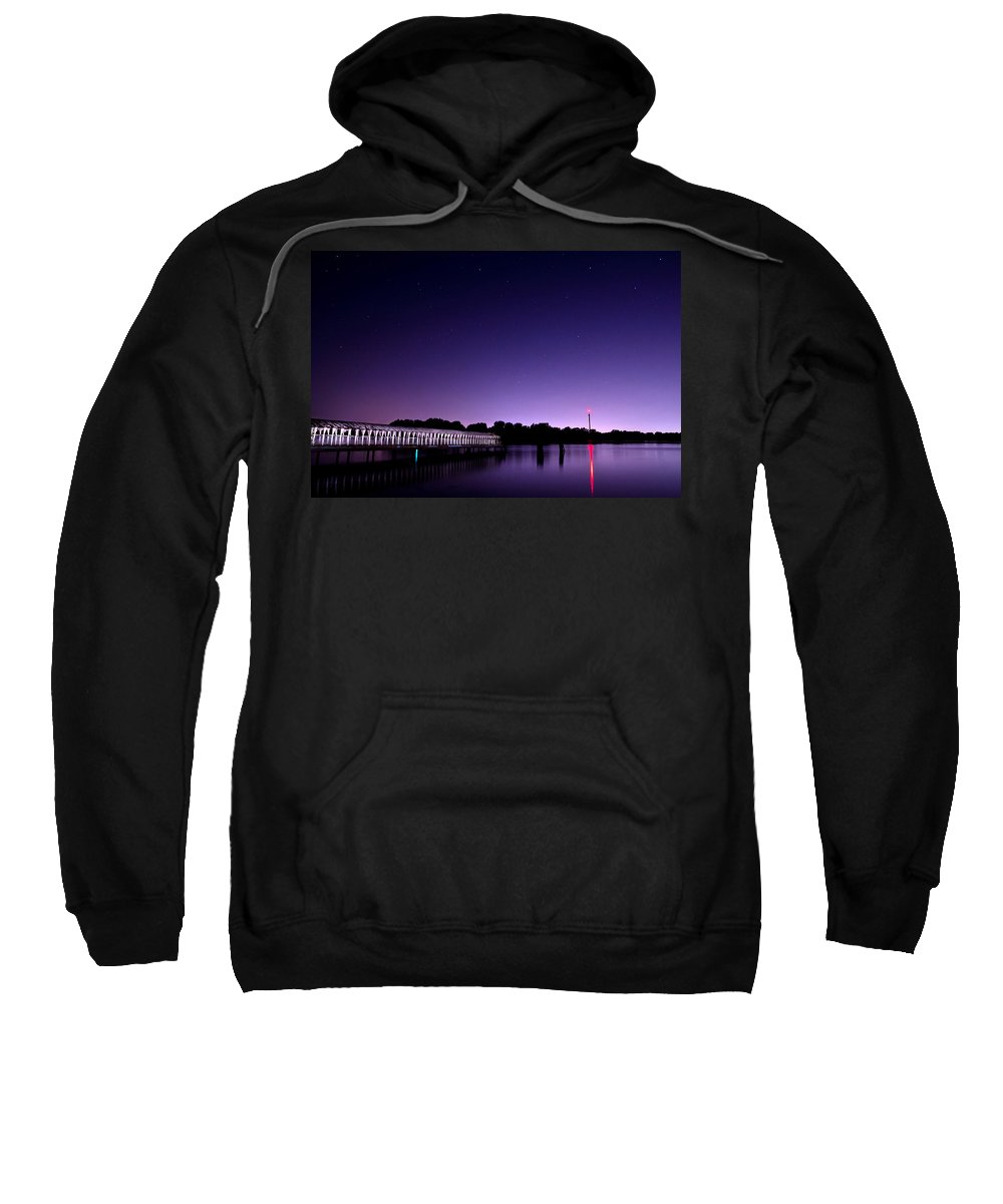 Night Sweatshirt featuring the photograph Boblo Dock by Cale Best